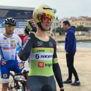 Solid start of the @istrian.spring.trophies race. @primozicjaka ends 3 seconds behind the winner Lars Boven of @jumbovisma_academy on 26th place  and is ready to attack in the next stages.